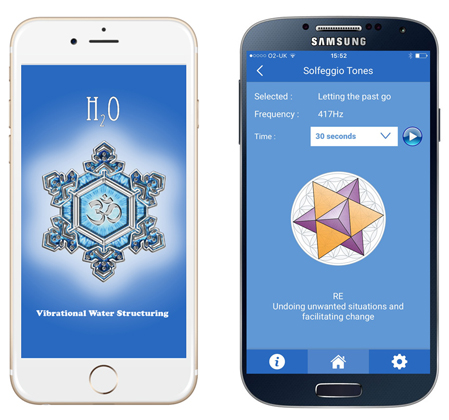 H2O app on iPhone and Samsung Galaxy