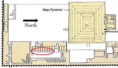 Saqqara healing temple location